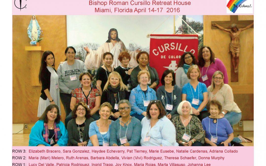 Women's Cursillo 89 – April 2016